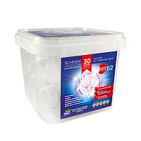 TechPoint Таблетки для ПММ All-IN-ONE ECO-DISHWASHER TABLETS (10грамм) 30 штук, арт. 9984