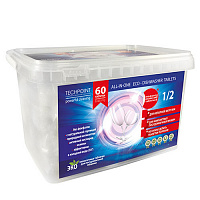 TechPoint Таблетки для ПММ All-IN-ONE ECO-DISHWASHER TABLETS (10грамм) 60 штук, арт. 9985